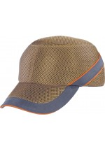 Air coltan Impact-Resistant Baseball Style Bump Cap Beige-Grey