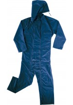 Co400 Rain Overall In Polyester With Pvc Coated Navy Blue