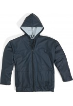 850 Mixed Polyurethane-Coated Polyester Support Rain Suit Navy Blue