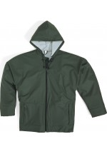 850 Mixed Polyurethane-Coated Polyester Support Rain Suit Green