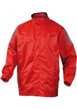Kissi Polyester Coated Pvc Rain Jacket Red