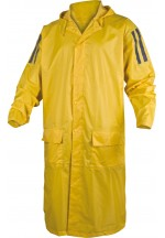 Ma400 Pvc-Coated Polyester Raincoat Yellow