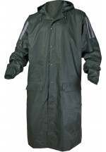 Ma400 Pvc-Coated Polyester Raincoat Green