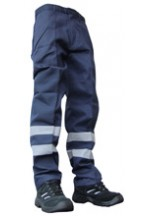 P/cot nylon patch trousers navy