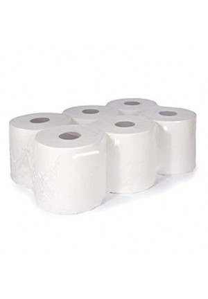 Active White 2 Ply Centre feed White Roll Case Of 6