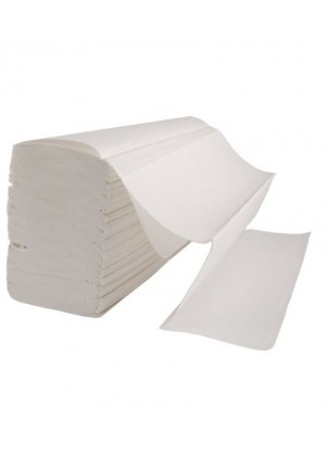 Z fold Hand Towel 2 Ply White Laminated