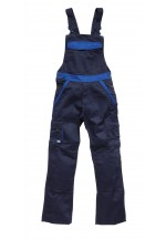 Industry 300 two tone bib and brace Royal - Navy