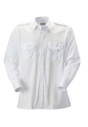 White Pilot Shirt by Rodo
