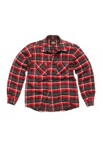 Flannel chk shirt red